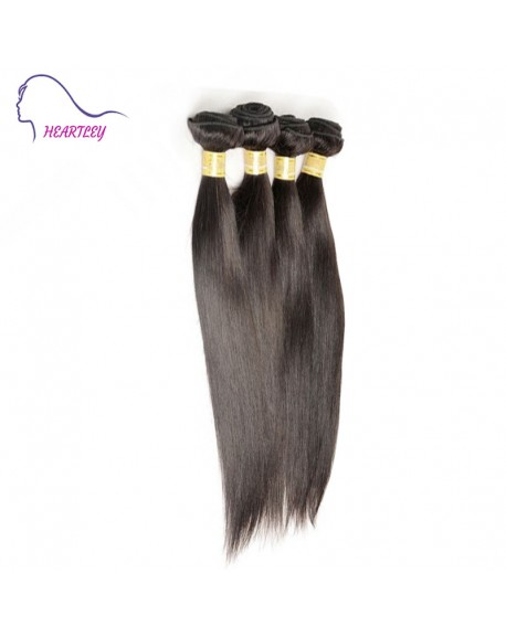 "20"" Black Brazilian Remy Hair Silky Straight Hair Weaves 4 Bundles Hair Extensions"