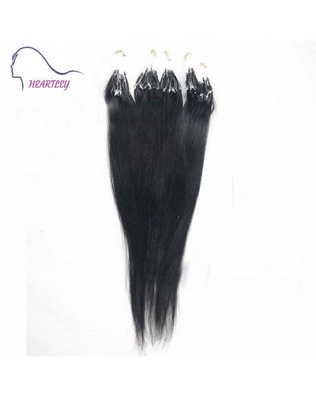 """18"""" Natural Black Micro Loop Brazilian Remy Hair Extensions"""