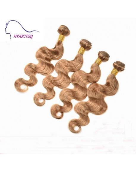 24 Inch Honey Blonde Brazilian Body Wave Hair Weavings Real Human Hair Extensions 4 Bundles