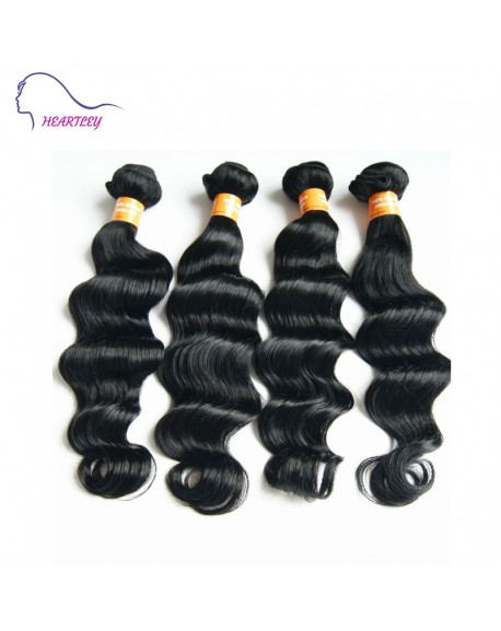 16 Inch Indian Black Virgin Hair Deep Wave Hair Extensions Human Hair Weaves
