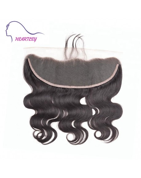"""Ear To Ear 13x4"""" Frontal Lace Closure Body Wave Brazilian Real Human Hair Extensions 10-20 Inch"""