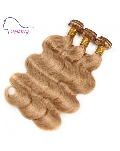 "HEARTLEY Honey Blonde Color Brazilian Body Wave 3 Bundle 10-24"" inch Unprocessed Hair Weavings"